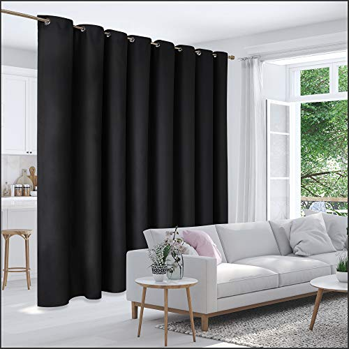 Deconovo Extra Wide Room Partition Curtains (15ft Wide x 8ft...
