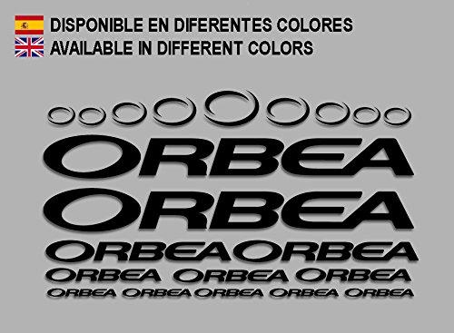 Ecoshirt 7P-MPYL-092N Pegatinas Orbea F208 Stickers Aufkleber Decals Adesivi Bicycle Bike MTB BTT, Negro