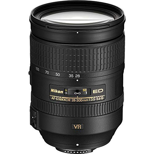 Nikon AF-S NIKKOR 28-300mm f/3.5-5.6G ED VR Lens with Creative Filter Kit and Pro Cleaning Accessories