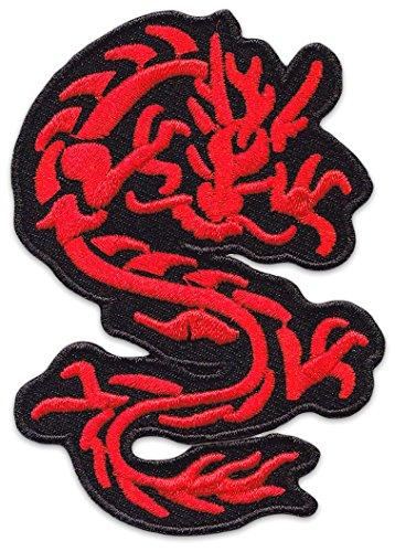 Nordischer Drache Aufnäher Aufbügler Patch Wikinger Tattoo Kelten Schutzsymbole Druiden