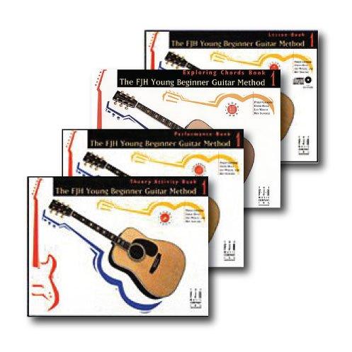 FJH Young Beginner Guitar Method Level 1 Pack - 4 book set - No CD