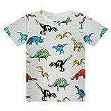 SFreeBo Maglietta Dinosauro Bambino T Shirt Ragazzo Estivo Manica Corta Girocollo Magliette Ragazzi 5-6 Anni