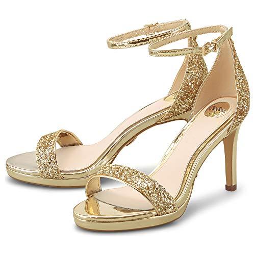 Buffalo Damen Maisie Sandale mit Absatz, Light Gold