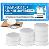 Impresa [10 Pack] Tea Maker Cleaner for Breville BTM100 Tea Maker and More, Safe and Non-Corrosive Tablets Help to Control the Build-Up of Limescale - Tea Maker and Cup Stain Remover