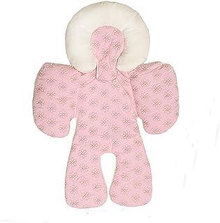 Ruirui Niño bebé cochecito coche cojín cojín cabeza y apoyo del cuerpo de almohadas, pink car mat