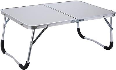 Zerone Computertisch Laptoptisch Multifunctional Faltbarer Tisch aus MDF und Alulegierung für Arbeit und Spass(Weiss)