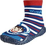 Playshoes Jungen Unisex Kinder Aqua Socken, Badesocken Taucher Dusch-& Badeschuhe, Rot/Blau/weiß, 22/23 EU