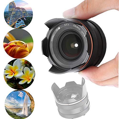 Topiky 14 mm lens met handmatige diafragmafocus f3.5,F3.5-F16,4 instelbare diafragma, ptisch glas met meervoudige coating, vaste brandpunten, micro-lens voor spiegelloze camera's, voor M4/3