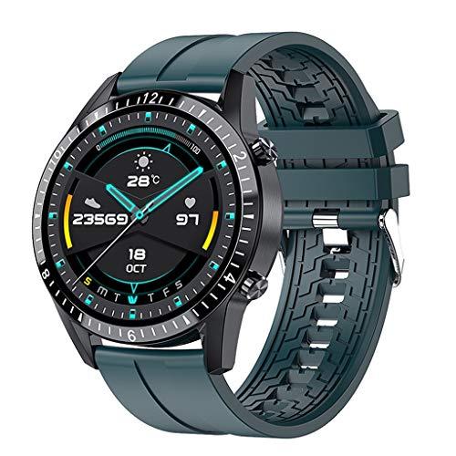 ZXQZ Relojes de Pulsera Reloj Inteligente, Relojes de Seguimiento de Actividad a Prueba de Agua IP67, Smartwatch Deportivo con Pantalla Táctil Completa, Banda de Acero Inoxidable para Hombres Watches