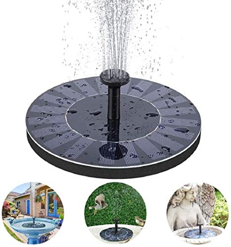 HOBU Solar Powered Fountain, Zwevende Zonnevogel Bad Water Pompen, Gratis Staande Water Pomp voor vijver, Zwembad, Tuin, Vistank, Aquarium, Outdoor met 3 Nozzle Spray.