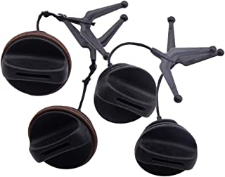 Eastar 2 Tankdeckel & 2 Öldeckel passend für Husqvarna 340 345 346XP 350 353# 537215202 503903901