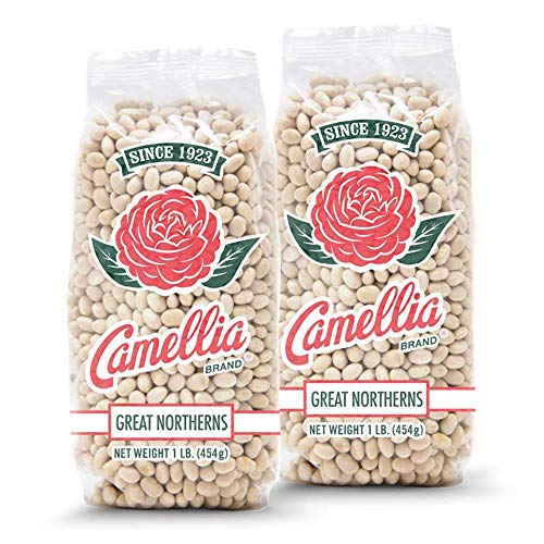 Camellia Brand Dry Great Northern Beans, 1 Pound (Pack of 2)…