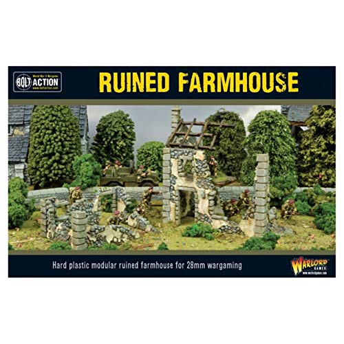Bolt Action Ruined Farmhouse 1:56 WWII Military Wargaming Diorama Plastic Model Kit