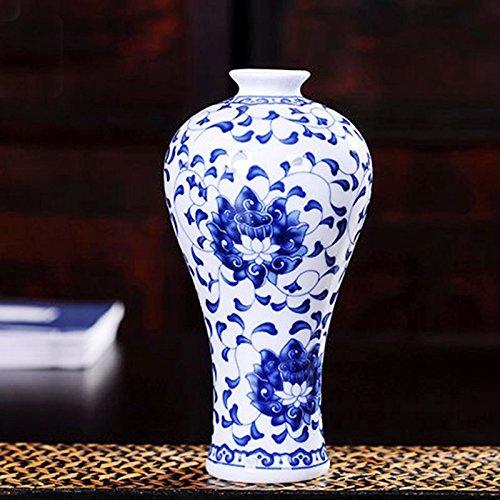 FUGL Chinesische traditionelle Blaue und weiße Porzellanvasen für Inneneinrichtungen Antike Vasen Ornamente für Schreibtischdekoration