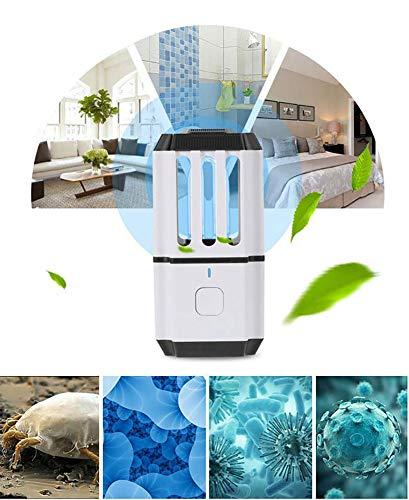 RHSMM Lampe De Désinfection À La Lampe À Ozone UV Rechargeable Portable Household Car Lampe De Stérilisation UV Mini Lampe De Stérilisation en Plus De L'ozone