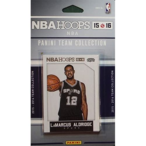 San Antonio Spurs 2015 2016 Hoops Basketball Factory Sealed 10 Card NBA Licensed Team Set with