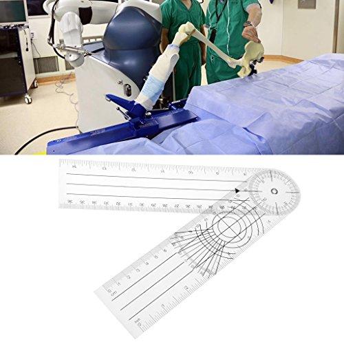 bhty235, regla de medición resistente a roturas, regla múltiple de 360 grados para goniómetro, regla de columna médica en ángulo, cm/pulgada