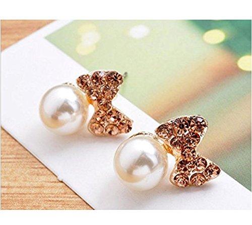 ARMAC Pendientes de moda con diseño de temperamento simple y diamantes de imitación, estilo retro, largos