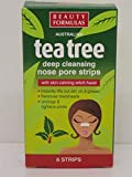 4 x Boxes of Tea Tree Cleansing Nose Pore Strips for Blackheads 4x6 strips by Beauty Formulas