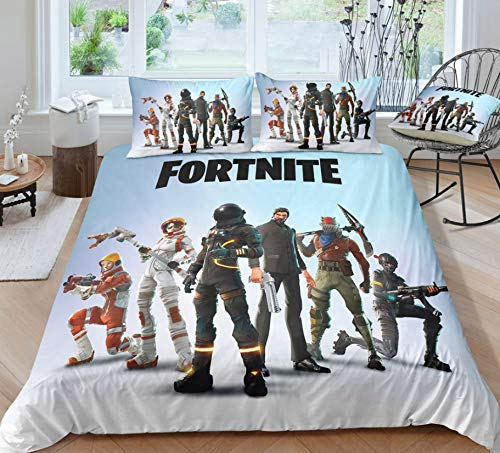 HDBUJ Game 3D Character Printing Bedding Set, Soft Polyester Duvet Cover, Two Pillowcases, Stylish And Individual 135X200Cm