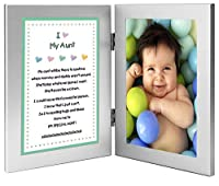 Gift for Aunt - Sweet Poem from Niece or Nephew in Double Frame - Add 4x6 Inch Photo by Poetry Gifts