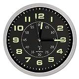 Orologio 30 cm, Fosforescente, radiocontrollato, Doppio Display