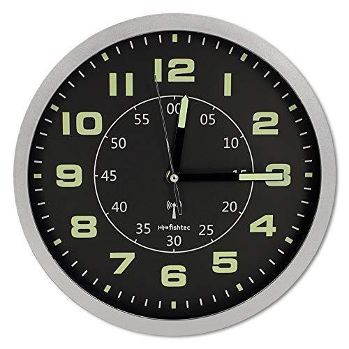 Soldela FISHTEC - Orologio 30 cm, fosforescente, radiocontrollato, doppio display