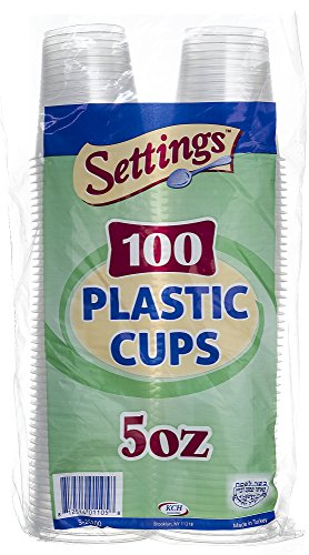Settings 5oz Clear Plastic Disposable Cups 100 Count (2 Pack)