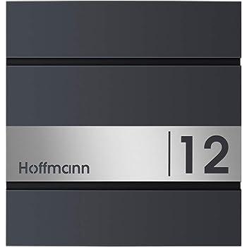 mit Hausnummer /& Namen Frabox/® Design Paketkasten NAMUR anthrazitgrau RAL 7016 Edelstahl