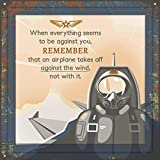 Gifts for Pilots | Ideal Present for Aviation & Aircraft Pilot | 7X7 Tile Artwork | Aviator & Airplane Themed Presents | Air Travel Enthusiasts Gift for Men & Women