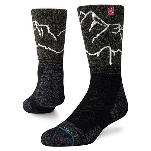 Stance Adventure Garhwal Crew Socken schwarz/neongrün, M