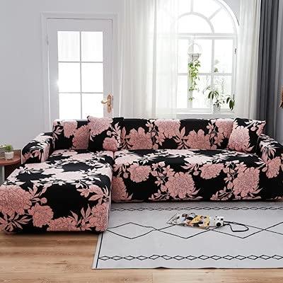ASCV Sofabezug Einfarbige Sofabezüge Spandex Universal Modern Elastic Stretch Sofabezüge Für Wohnzimmer Sofabezug A20 4-Sitzer