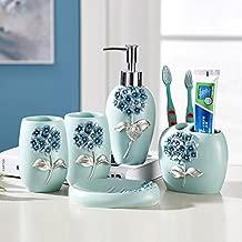 peacock bathroom accessory set