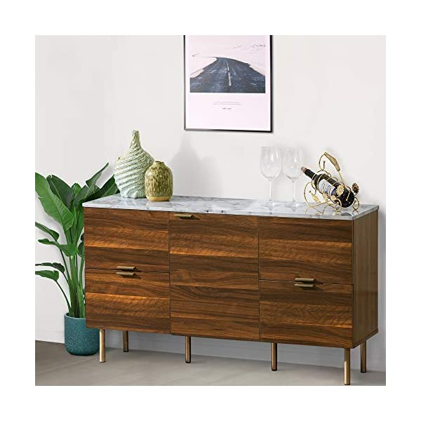 GOOD & GRACIOUS Sideboard Cabinet, Mid Century Modern Console Storage Buffet...