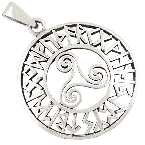 Trisquel runas joyería céltica colgante de plata 925