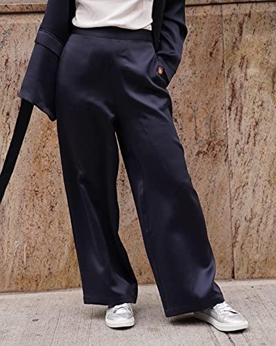 The Drop @amazonthedrop Pantalon Droit, Bleu Nuit, Pour Femme