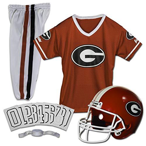Franklin Sports NCAA Georgia Bulldogs Kids College Football Uniform Set - Youth Uniform Set - Includes Jersey, Helmet, Pants - Youth Small