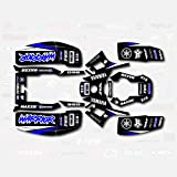 Warrior Parts & Accessories - Black Blue Shift Racing Graphic kit fits Yamaha Warrior 350 87-04 electric start