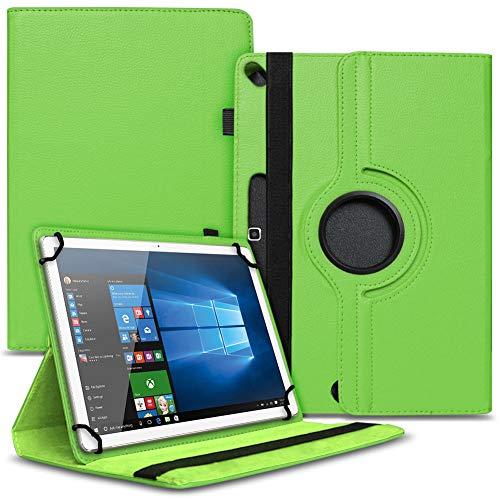 Nauci Tablet Schutz Hülle kompatibel für Xido Z110 X111 Z120 hochwertiges Kunstleder mit Standfunktion 360° Drehbar Cover Universal Case, Farben:Grün
