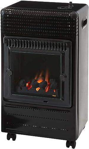 Favex - Chauffage d'appoint à gaz Ektor Fire - Intérieur - Brûleur Inox Infra Bleu effet feu de cheminée - 3 Puissanc...