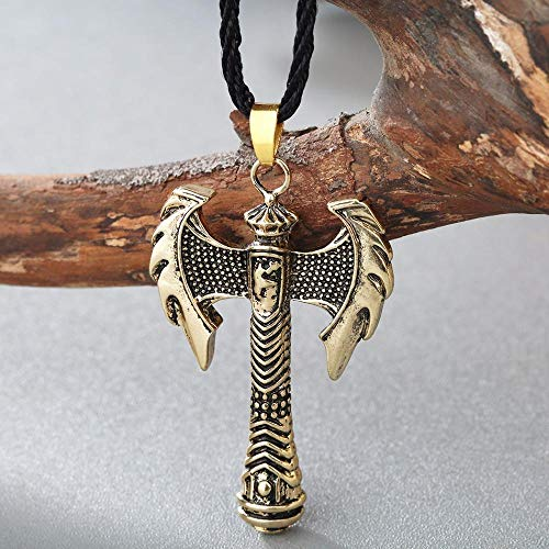 Halskette Männer Halskette Ethnisch Cooler Stil Wikinger Axt Waffe Anhänger Geschenk Amulett Modeschmuck Gold