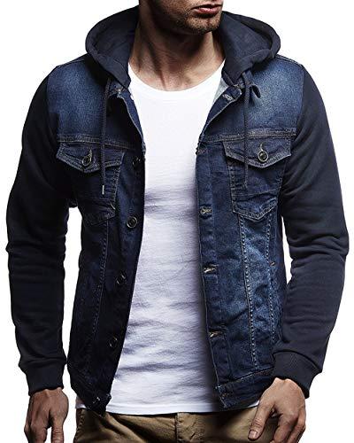 Wamvp Chaqueta de Mezclilla con Capucha para Hombre, Abrigo otoño Invierno Clásico Jacket Jeans, Chaqueta De Vaquero Manga Larga Denim Jacket Outwear