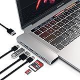 Satechi Type-C アルミニウム Proハブ (シルバー) MacBook Pro 2016以降, MacBook Air 2018以降対応 40Gbs USB-C PD 4K HDMI Micro/SDカード USB 3.0ポート×2 マルチ USB ハブ