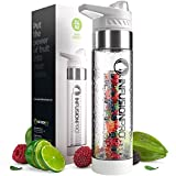 Infusion Pro Premium Fruit Water Bottle Infuser - White Sport 1 Pack