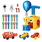 Balloon Launcher Car Toy set childrens 3 year old+ Boys & Girls   Balloon Pump   Air Power Balloon  Aerodynamic Car Educational Science for gift sets   Looney Launcher UPGRADED MODEL 2021  Space-Ocean