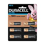 Duracell Ultra Alkaline AA Batteries (Pack of 6)