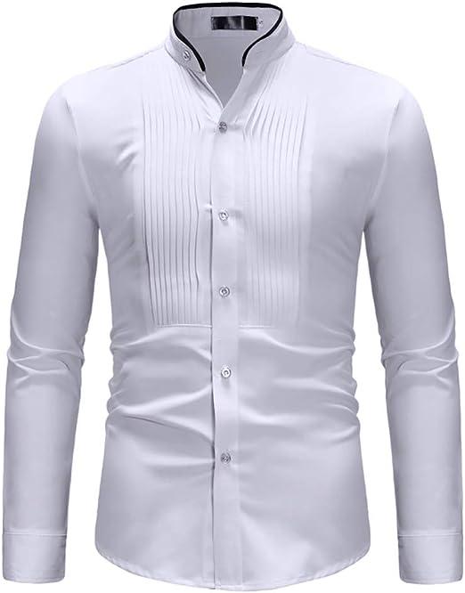 Camisas para Hombres, Camisa de Manga Larga, Suelta, Suelta ...