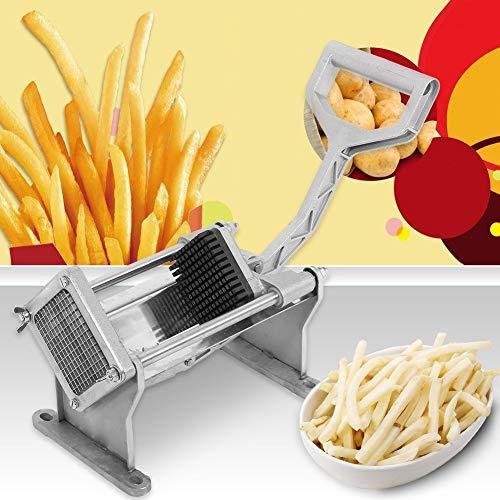 Ejoyous Edelstahl Pommesschneider, Pommes-Frites Schneidklinge aus rostfreiem Stahl Edelstahl Kartoffelschneider, Frites Schneider Gemüseschneider mit 4 Austauschbare Klingen, Gemüseschneider