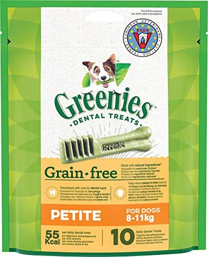 Greenies Dental Treats Grain Free Petite – 20 Getreidefreie Zahnpflegesnacks für kleine Hunde von 8-11 kg – Hundeleckerli zur täglichen Zahnreinigung – 2er Pack – 2 x 170 g