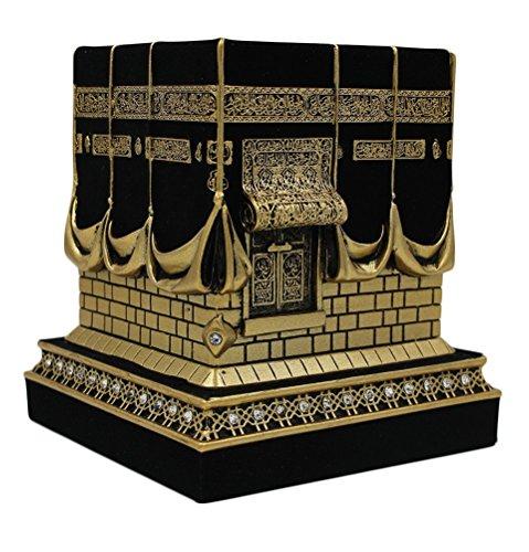 Home Table Decor Kaba Nachbildung Modell Schaustück Buchstütze Eid Geschenk (klein, Gold)